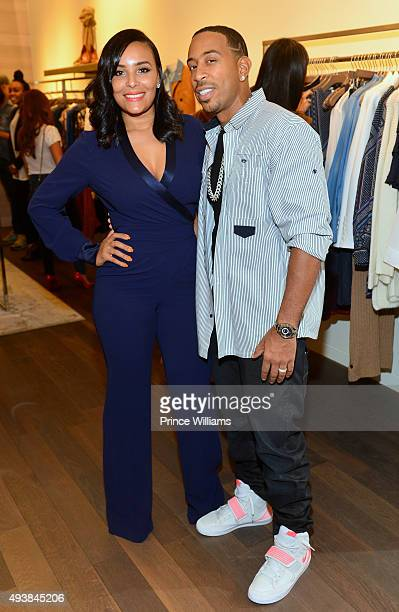 Eudoxie Agnan Bridges and Chris 'Ludacris' Bridges attend Unspoken Angels Charity Event For Domestic Violence Awareness Month at Intermix Buckhead on...