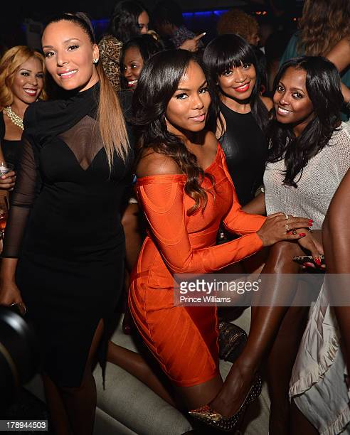 Eudoxie Agnan Letota Luckett Monyetta Shaw and Keshia Knight Pulliam attend LudaDay Weekend Kickoff Hosted By Ludacris at Prive on August 30 2013 in...
