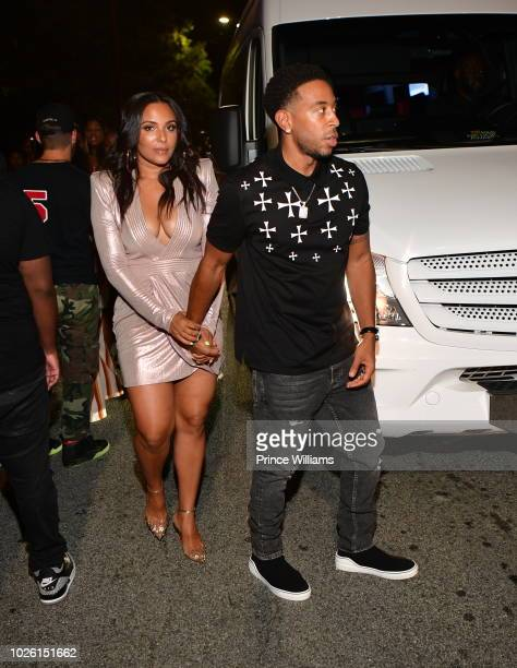 Eudoxie Bridges and Ludacris attend The Labor day Weekend Celebration at Compound on September 2 2018 in Atlanta Georgia