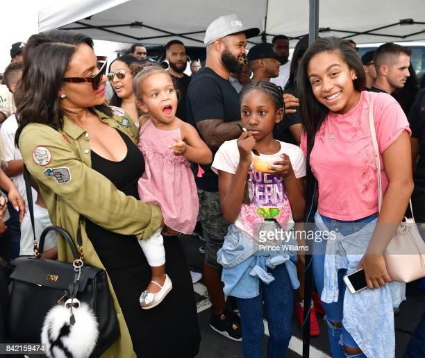 Eudoxie Bridges Karma Bridges and Cai Bella Bridges attend LudaFamDay during LudaDay Weekend on September 2 2017 in Atlanta Georgia