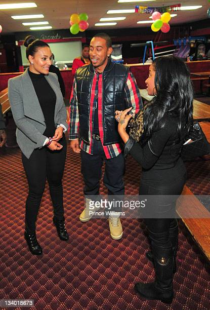 Eudoxie, Ludacris and Antonia Wright attend the 2011 Roll Over Hunger Charity and Skate Jam at the Cascade Family Skating Rink on November 23, 2011...