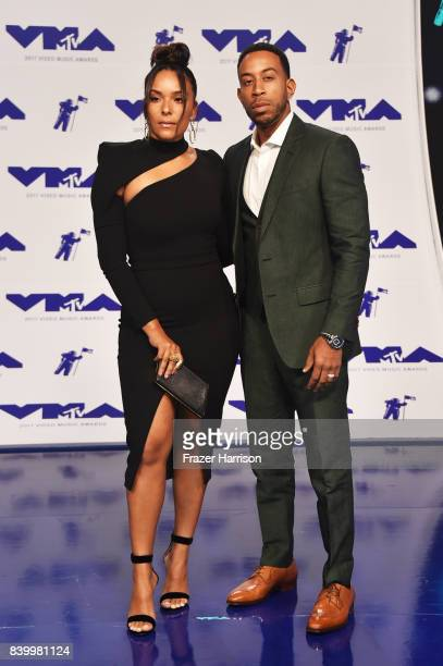 Eudoxie Mbouguiengue and Ludacris attend the 2017 MTV Video Music Awards at The Forum on August 27 2017 in Inglewood California