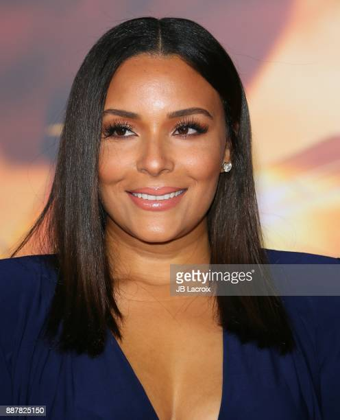 Eudoxie Mbouguiengue attends the premiere of Warner Bros Pictures' 'Justice League' on November 13 2017 in Los Angeles California