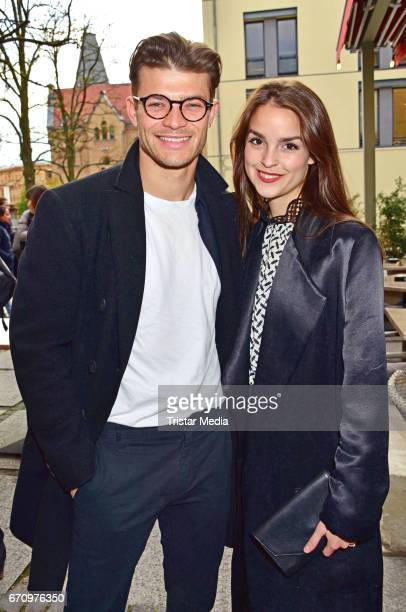 Eugen Bauder and Luise Befort attend the family and friends screening of the film 'Einsamkeit und Sex und Mitleid' on April 20 2017 in Berlin Germany