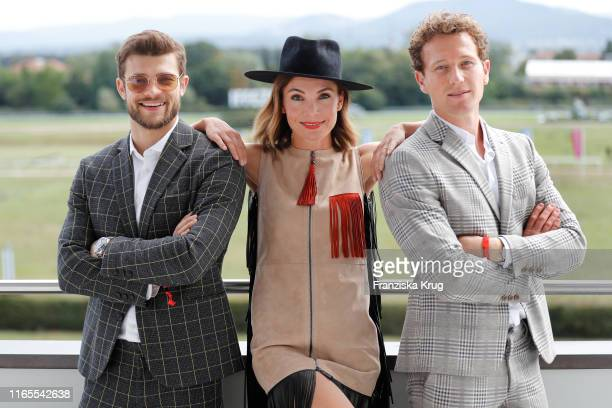 Eugen Bauder Nadine Warmuth and Artjom Gilz during the launch of Le Grand Weekend by Longchamp Casino BadenBaden at Rennplatz Iffezheim on September...