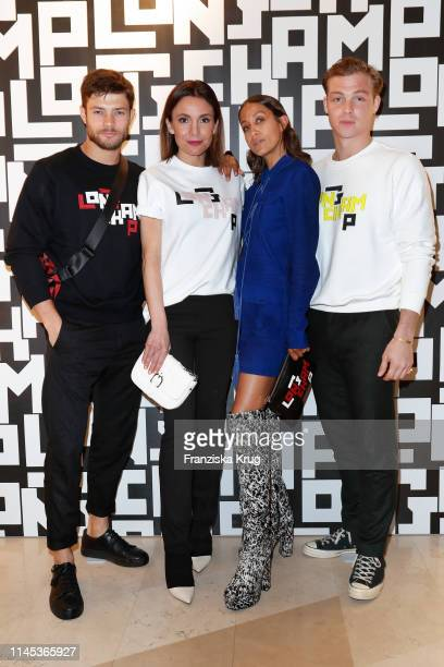 Eugen Bauder Nadine Warmuth Rabea Schif and David Schuetter attend the Longchamp store event on May 21 2019 in Munich Germany