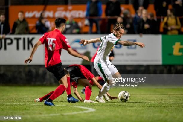 Eugen Polanski of Borussia Moenchengladbach in action during the friendly match between Wiener SportClub and Borussia Moenchengladbach at Wiener...