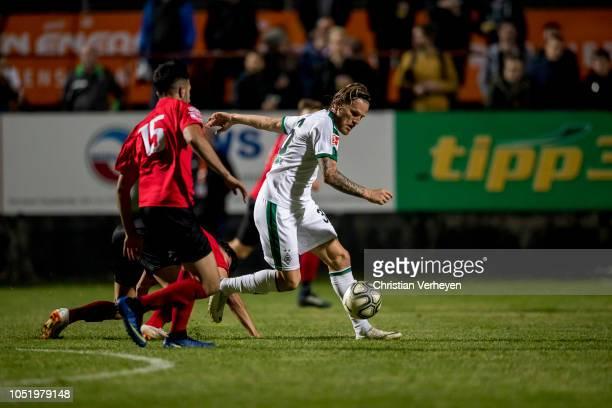 Eugen Polanski of Borussia Moenchengladbach in action during the friendly match between Wiener Sport-Club and Borussia Moenchengladbach at Wiener...