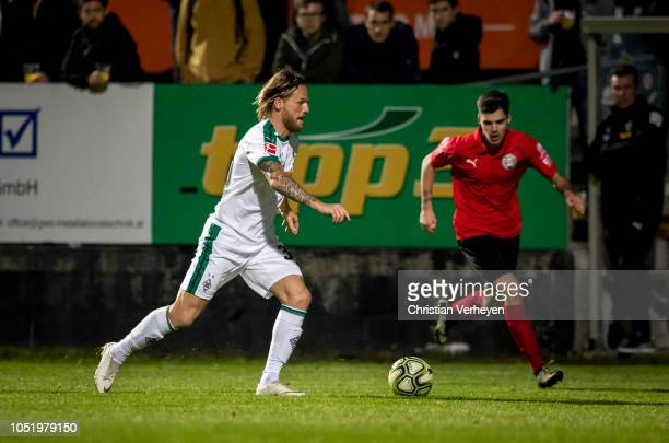 Eugen Polanski of Borussia Moenchengladbach in action during the friendly match between Wiener Sport-Club and Borussia Moenchengladbach at Wiener...