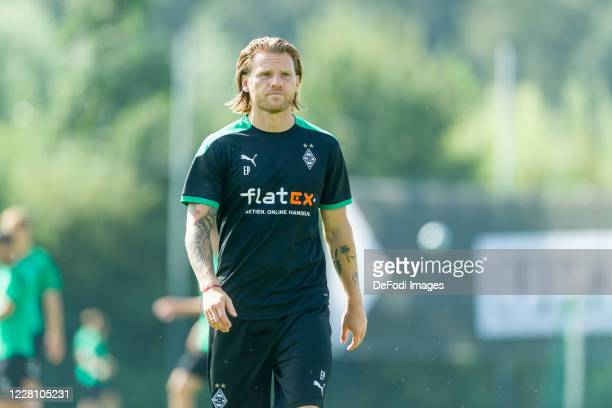 Eugen Polanski of Borussia Moenchengladbach looks on during day 3 of the pre-season summer training camp of Borussia Moenchengladbach on August 19,...