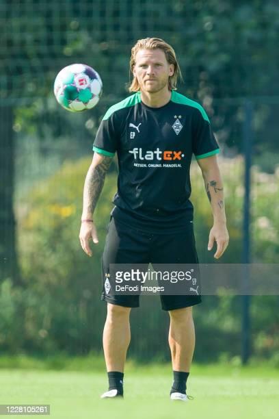 Eugen Polanski of Borussia Moenchengladbach looks on during day 3 of the pre-season summer training camp of Borussia Moenchengladbach on August 19,...