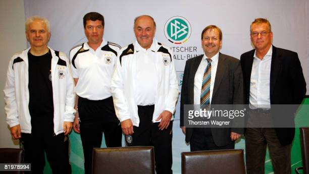 Eugen Striegel head of referee education referee Herbert Fandel Volker Roth head of german referees Dr Rainer Koch Vicepresident of DFB and...