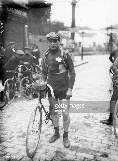 Eugene Christophe French racing cyclist from the journey Paris Menin on 1912 BRA72679