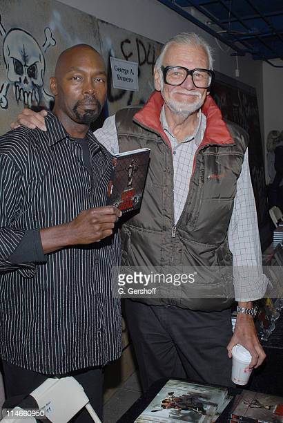 Eugene Clark and George A Romero during 2006 Big Apple Comic Book Convention Press Reception at Penn Plaza Pavilion in New York City New York United...