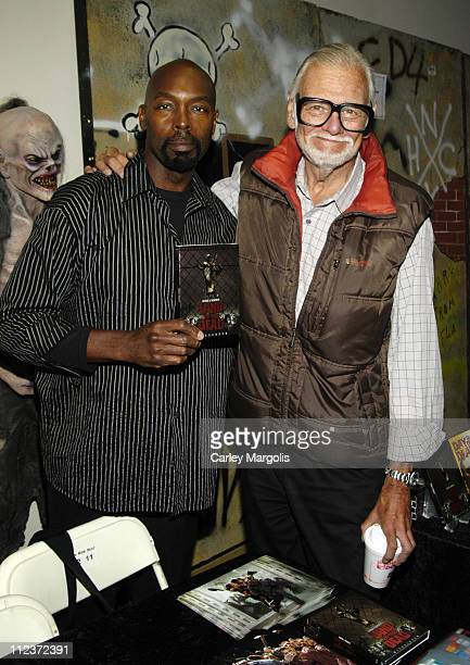 Eugene Clark and George Romero during 2006 Big Apple Comic Book Art Toy and Horror Expo Press Reception at Penn Plaza Pavilion in New York City New...