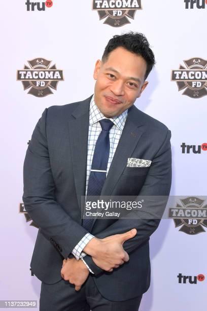 Eugene Cordero attends truTV's 'Tacoma FD' Premiere Event on March 20 2019 in Los Angeles California