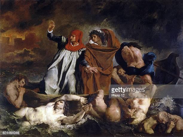 Eugene Delacroix French school The Barque of Dante or Dante and Virgil in Hell La Barque de Dante 1822 Oil on canvas Paris Musee du Louvre