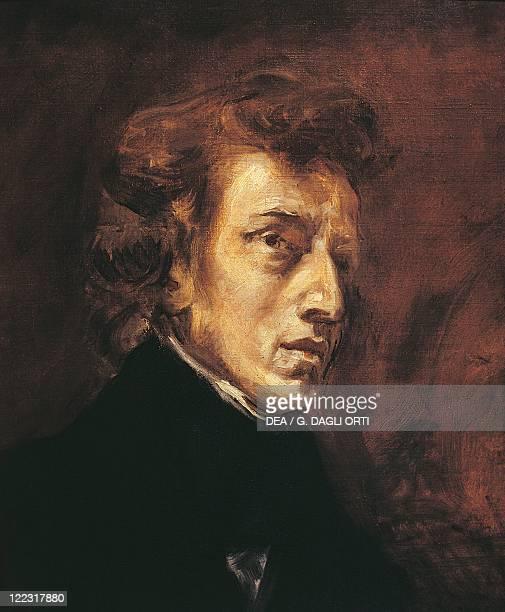 Eugene Delacroix Portrait of Frederic François Chopin Polish composer and pianist