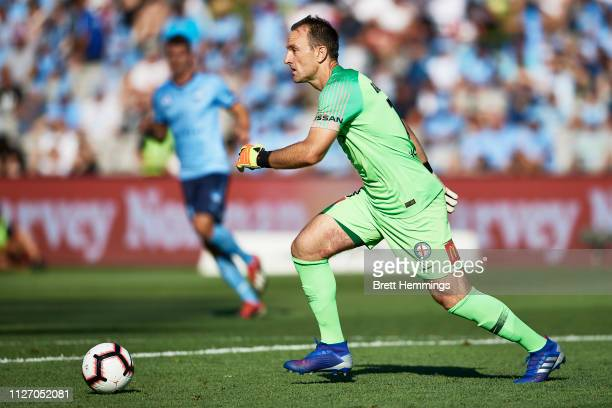 Eugene Galekovic of Melbourne City controls the ball during the round 17 ALeague match between Sydney FC and Melbourne City at WIN Jubilee Stadium on...