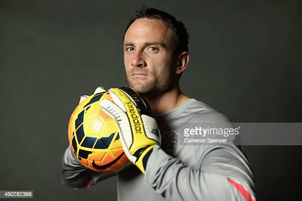 Eugene Galekovic of the Socceroos poses during an Australian Socceroos portrait session at Crowne Plaza Terrigal on May 20 2014 in Sydney Australia
