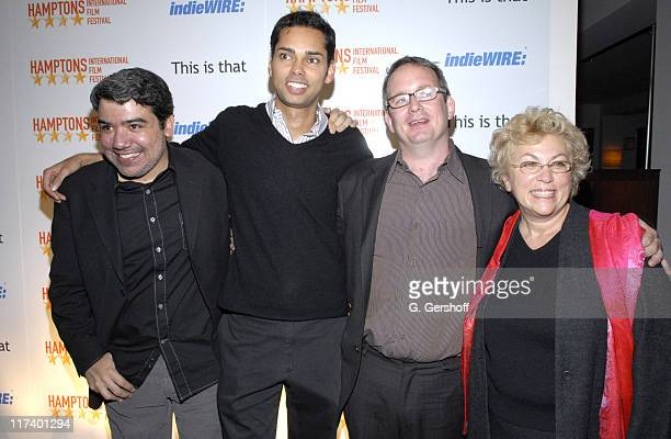 Eugene Hernadez, editor-in-chief of IndiWIRE, Rajendra Roy, artistic director of the Hamptons International Film Festival,Ted Hope, and Denise...
