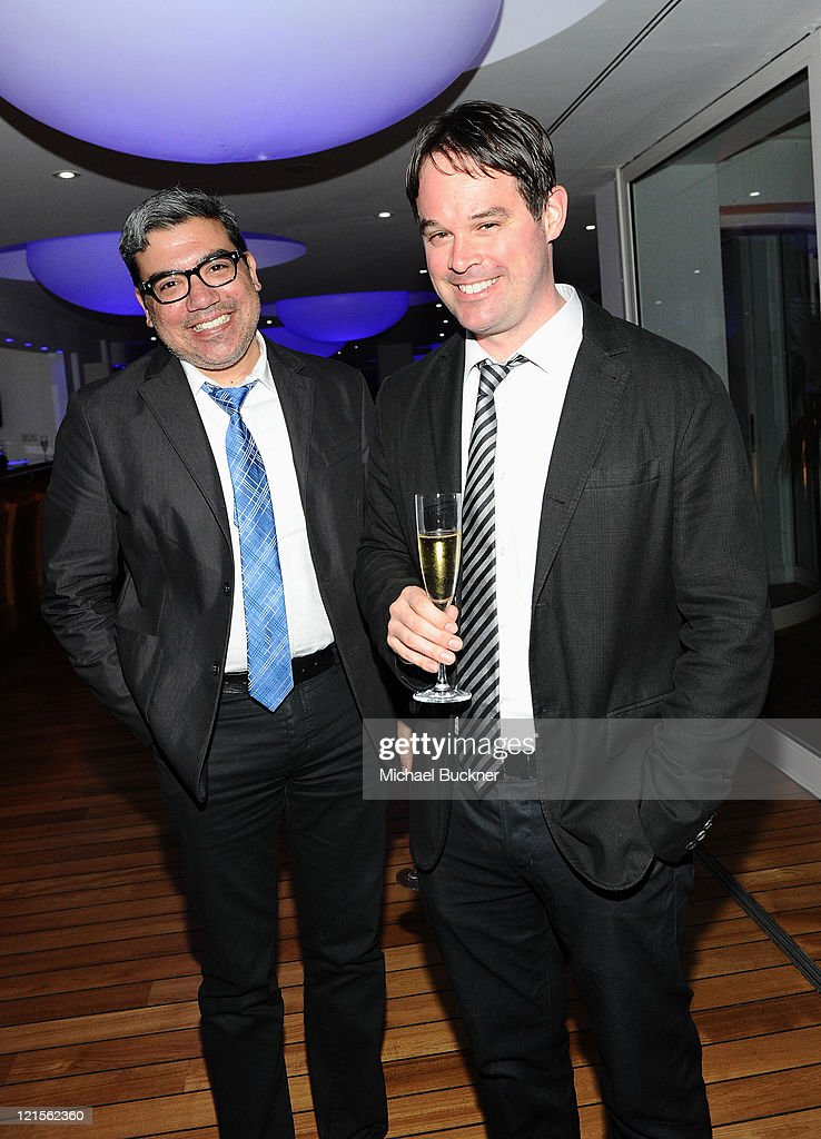 Eugene Hernandez and Brian Brooks attends the Palisades Media Corp and Vin Roberti Salute Independent Film Party held at the Hotel du Cap during the 63rd Annual International Cannes Film Festival on May 19, 2010 in Cannes, France.