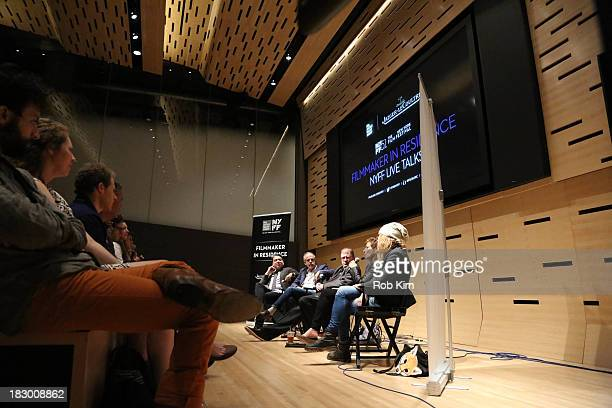 Eugene Hernandez Henry Bean Larry Gross Naomi Foner and Andrea Arnold attend the Story Creation and the Artistic Process panel at Elinor Bunin Munroe...