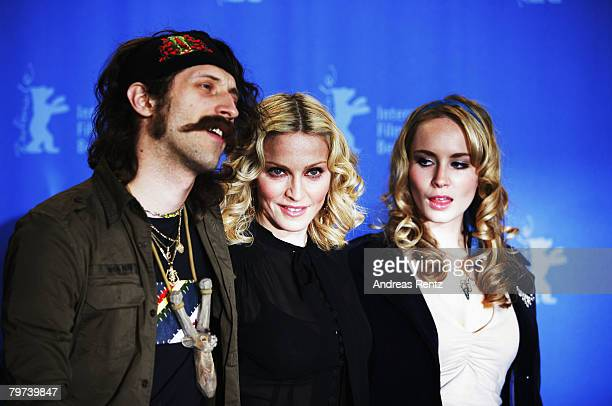 Eugene Hutz Madonna and Holly Weston attend the Filth and Wisdom photocall as part of the 58th Berlinale Film Festival at the Grand Hyatt Hotel on...