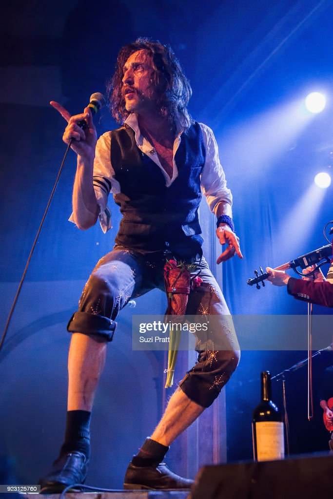 Eugene Hutz of Gogol Bordello performs at Neptune Theatre on February 20, 2018 in Seattle, Washington.