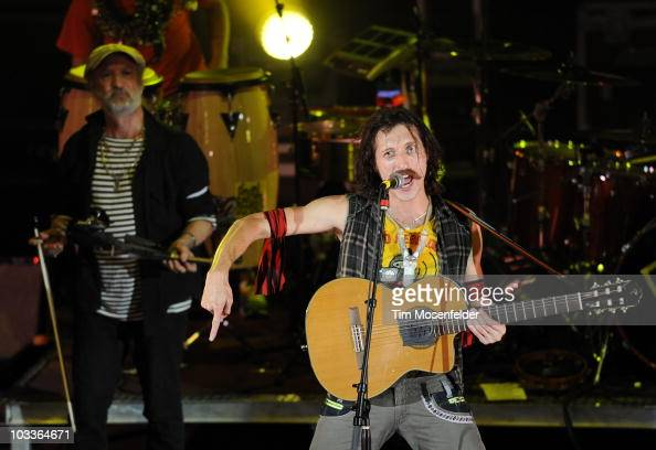 Eugene Hutz of Gogol Bordello performs in support of the