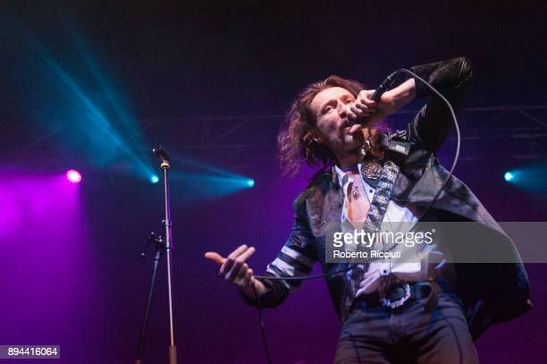 Eugene Hutz of Gogol Bordello performs live on stage at O2 Academy Glasgow on December 17 2017 in Glasgow Scotland