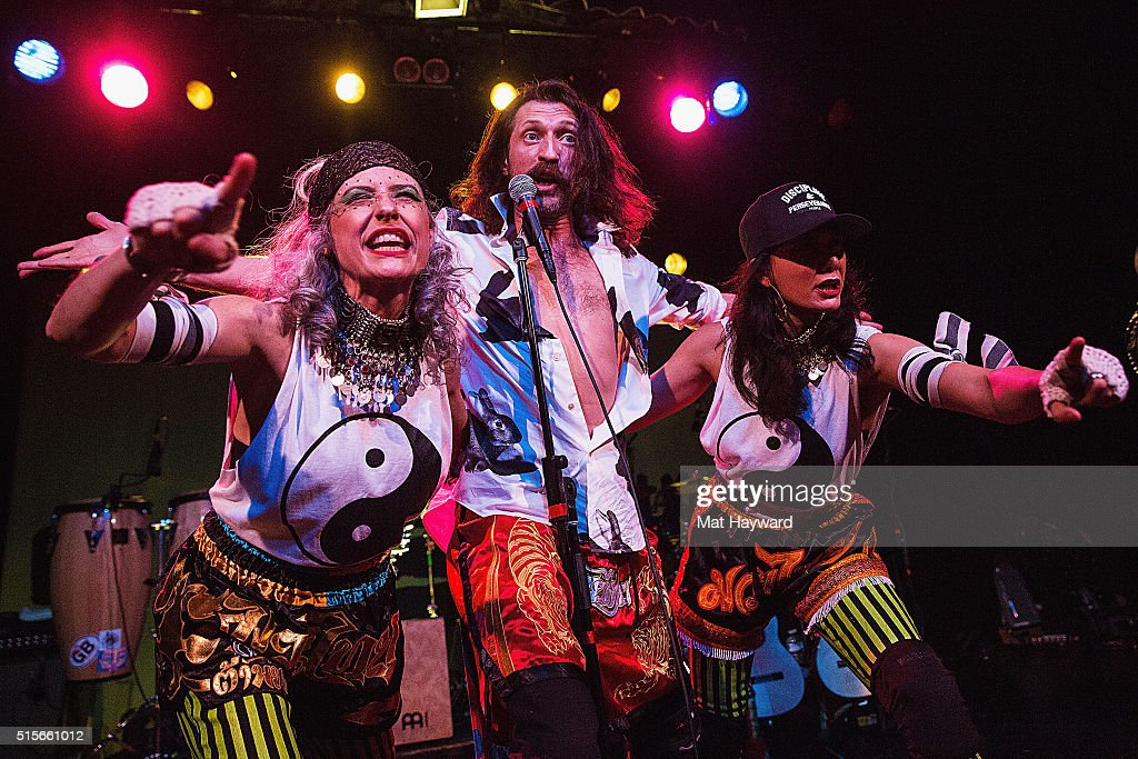 Eugene Hutz of Gogol Bordello performs on stage at The Showbox on March 14, 2016 in Seattle, Washington.