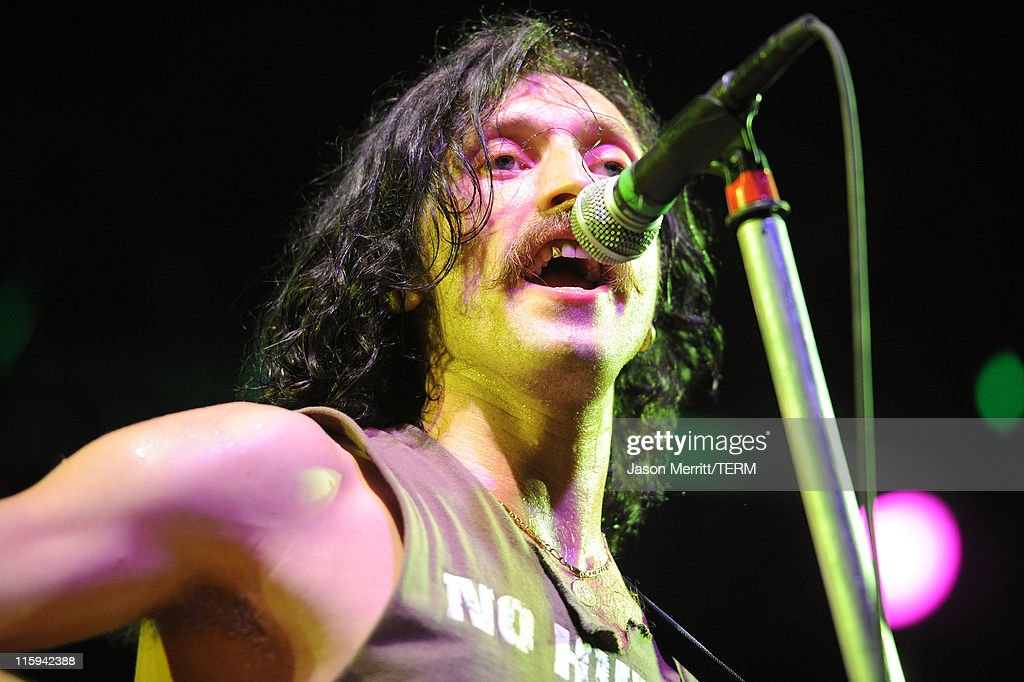 Eugene Hutz of Gogol Bordello performs on stage during Bonnaroo 2011 at The Other Tent on June 11, 2011 in Manchester, Tennessee.