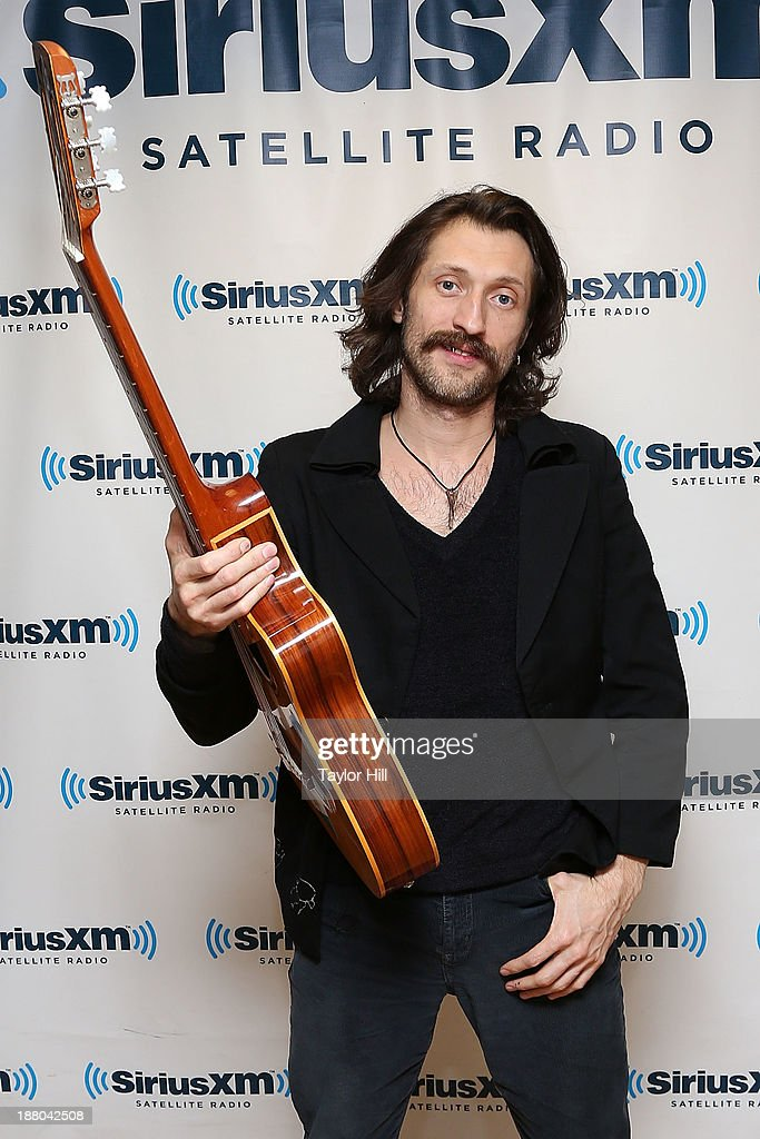 Eugene Hutz of Gogol Bordello visiits the SiriusXM Studios on November 14, 2013 in New York City.