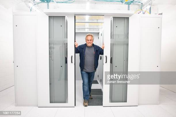 Eugene Kaspersky, CEO at Kaspersky Lab is seen at Interxion Data Center. Kaspersky Lab starts data processing for European users in Zurich November...