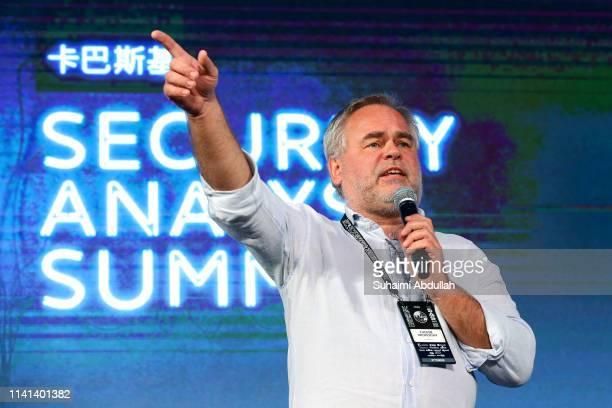 Eugene Kaspersky, CEO At Kaspersky Lab, speaks at Kaspersky Security Analyst Summit 2019 on April 09, 2019 in Singapore.The Kaspersky Security...
