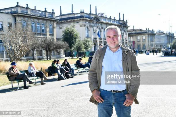 Eugene Kaspersky, CEO of Kaspersky Lab, poses n front of Politecnico after giving the Lectio Magistralis at Politecnico di Milano on the necessary...