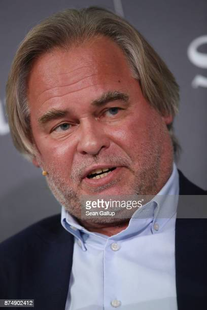 Eugene Kaspersky founder and head of cybersecurity firm Kaspersky Lab speaks at the Sueddeutsche Zeitung Economic Summit at the Adlon Hotel on...