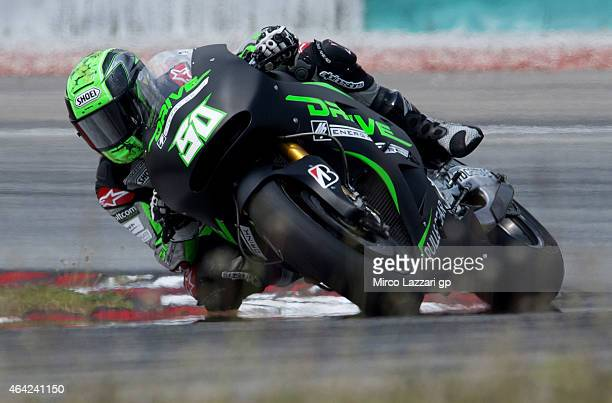 Eugene Laverty of Irish and Drive M7 Aspar rounds the bend during the MotoGP Tests in Sepang Day One at Sepang Circuit on February 23 2015 in Kuala...