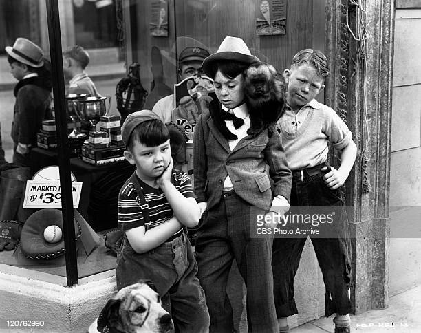 Eugene Lee as Porky George Switzer as Alfalfa and Henry Lee as Spike in 'The Awful Tooth' an Our Gang comedy later known as The Little Rascals...