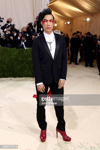 Eugene Lee Yang attends The 2021 Met Gala Celebrating In America: A Lexicon Of Fashion at Metropolitan Museum of Art on September 13, 2021 in New...