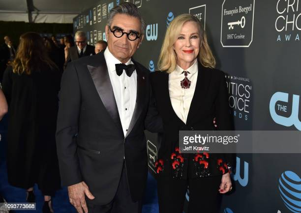 Eugene Levy and Catherine O'Hara at The 24th Annual Critics' Choice Awards at Barker Hangar on January 13 2019 in Santa Monica California