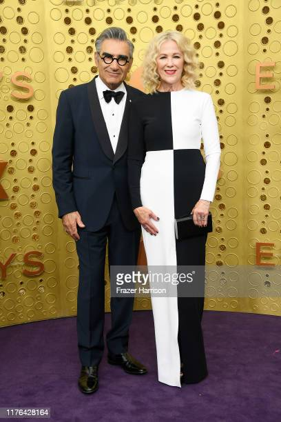 Eugene Levy and Catherine O'Hara attend the 71st Emmy Awards at Microsoft Theater on September 22 2019 in Los Angeles California