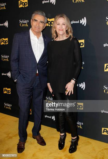 Eugene Levy and Catherine O'Hara attend the premiere of Pop TV's 'Schitt's Creek' season 4 at ArcLight Hollywood on January 16 2018 in Hollywood...