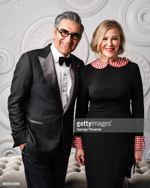 Eugene Levy and Catherine O'Hara pose in the ETalk Portrait Studio at the 2017 Canadian Screen Awards at the Sony Centre For Performing Arts on March...