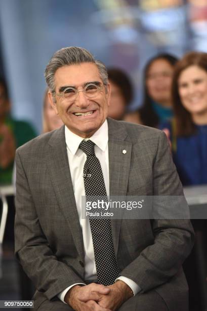 """Eugene Levy and Dan Levy are guests on """"Good Morning America,"""" Wednesday, January 24 airing on the Walt Disney Television via Getty Images Television..."""