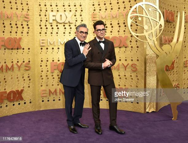 Eugene Levy and Dan Levy attend the 71st Emmy Awards at Microsoft Theater on September 22 2019 in Los Angeles California