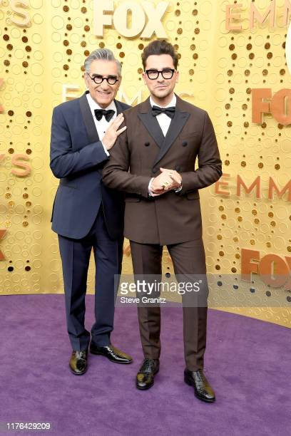 Eugene Levy and Daniel Levy attend the 71st Emmy Awards at Microsoft Theater on September 22, 2019 in Los Angeles, California.