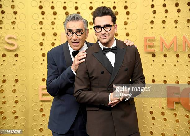 Eugene Levy and Daniel Levy attends the 71st Emmy Awards at Microsoft Theater on September 22, 2019 in Los Angeles, California.