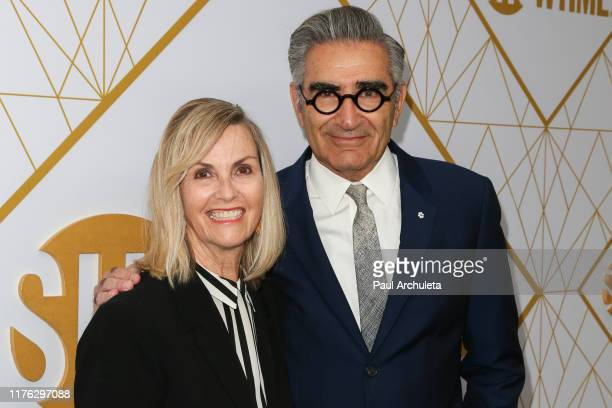 Eugene Levy and his Wife Deborah Divine attend the Showtime Emmy eve nominees celebrations at San Vincente Bungalows on September 21 2019 in West...